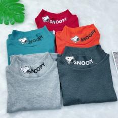 Áo giữ nhiệt thu đông cổ 3 phân cho bé trai bé gái từ 8-20kg vải len tăm xuất xin nhiều màu
