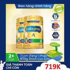 [FREESHIP 30K TOÀN QUỐC] Bộ 2 lon sữa bột Enfagrow 4 cho trẻ trên 2 tuổi 870g + Tặng phao bơi ếch xanh mái che trị giá 300k – Cam kết HSD còn ít nhất 10 tháng