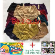 Bộ 2 quần chip đồ lót ren nữ cao cấp quyến rũ (Nhiều Màu) + Tặng khẩu trang Ninja chống nắng
