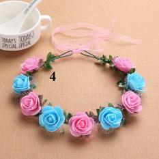 Vòng hoa đội đầu,vòng hoa ky yếu mix màu 9 bông
