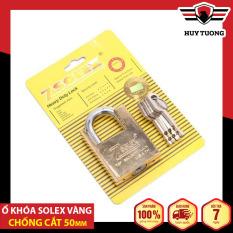 Ổ khóa Solex vàng chống cắt nhiều kích thước cao cấp, bằng thép siêu cứng, có lõi đồng – Huy Tưởng
