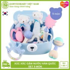 Set đồ chơi xúc xắc cho bé CHÍNH HÃNG GORYEO BABY Hàn Quốc – Goryeobaby Việt Nam – an toàn, phát triển kỹ năng cho bé, xúc xắc cho bé, ngậm nướu, lục lạc cho bé, đồ chơi trẻ sơ sinh