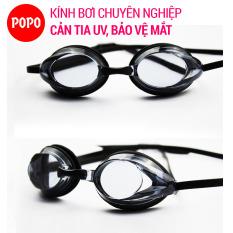 Kính bơi chuyển nghiệp mắt kính siêu bền, nhỏ gọn 1154 chống tia UV, chống lóa, mắt kính trong suốt kiểu dáng thời trang cao cấp POPO Collection