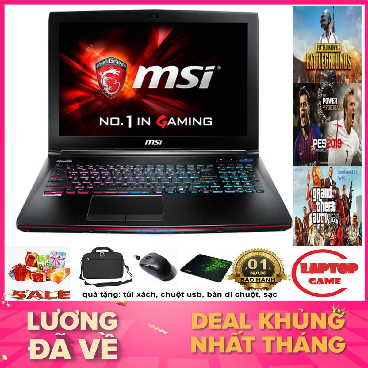 HÀNG HIẾM VGA KHỦNG GTX 970M - Laptop MSI GE62 2QF (Core i7-5700HQ, RAM 8GB, HDD 1TB, NVIDIA GeForce GTX...