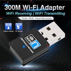 USB wifi, USB thu sóng wifi tốc độ cao 300mbps dành cho PC và laptop (Không râu) Card mạng không dây thu wifi USB 300Mb