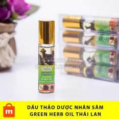 【CHẤT LƯỢNG】 Dầu Lăn Thảo Dược Nhân Sâm Green Herb Oil Thái Lan – 8ml