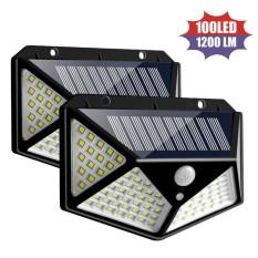 Bộ 2 Đèn năng lượng mặt trời Solar 100 LED 3 chế độ sáng (Đen)