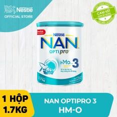 [FREESHIP TOÀN QUỐC]Sữa bột Nestle NAN OPTIPRO 3 HM-O 1.7Kg cho trẻ từ 1-2 tuổi (Mẫu mới) – Cam kết HSD còn ít nhất 10 tháng