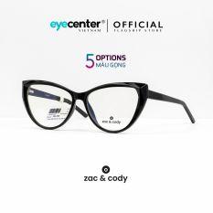 Gọng kính nữ chính hãng ZAC&CODY B40 mắt mèo lõi thép chống gãy nhập khẩu by Eye Center Vietnam