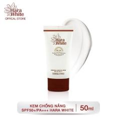 Kem chống nắng tự nhiên hỗ trợ kiềm dầu khô thoáng hoàn hảo Hara White Whitening Sunblock Cream SPF50 50ml