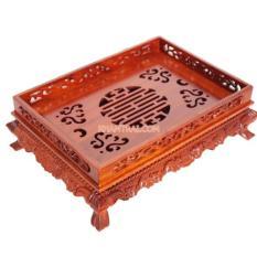 Khay trà gỗ hương (38 x 28 x 12 cm)