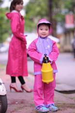 [SALE 50%] Áo mưa cho bé, Áo mưa bộ, Bộ áo mưa trẻ em Sơn Thủy – Được sản sản xuất từ nhựa PVC cực kì dẻo dai, bền đẹp