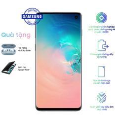 Samsung Galaxy S10 ( 8GB/128GB) + Quà tặng: Tai nghe Earbuds + Bao da Clearview – Hãng phân phối chính thức.