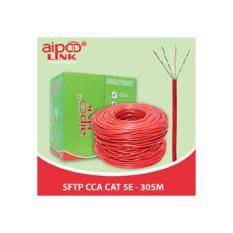 Cáp Aipoo Link SFTP CCA CAT5E ( siêu chống nhiễu hợp kim đồng nhôm) đỏ 305m/cuộn