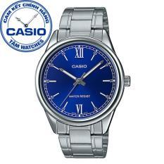 Đồng hồ nam dây thép không gỉ Casio Standard Anh Khuê MTP-V005D-2B1UDF