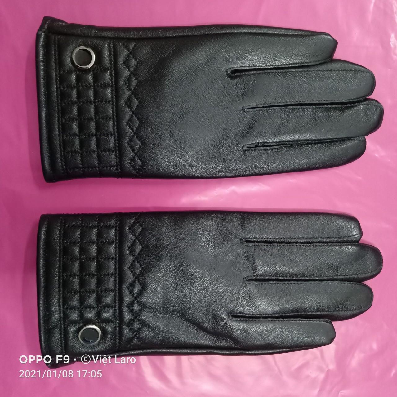 Găng tay nam da cừu, sản phẩm găng tay được chế tạo từ da cừ, chống nước, bên trong có...