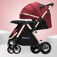 Xe đẩy trẻ em 2 chiều 3 tư thế gấp gọn siêu chắc, mẫu mới 2020 với nhiều quà tặng ( TONBABY) đỏ
