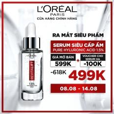 [Voucher giảm ngay 100K] Serum siêu cấp ẩm sáng da L'Oreal Paris pure Hyaluronic Acid 1.5% 30ml