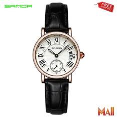 Đồng hồ nữ dây da cao cấp Sanda