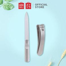 Bộ cắt móng tay Miniso đồ cắt móng tay phụ kiện nail bộ kềm cắt móng tay nail kit (Bạc)