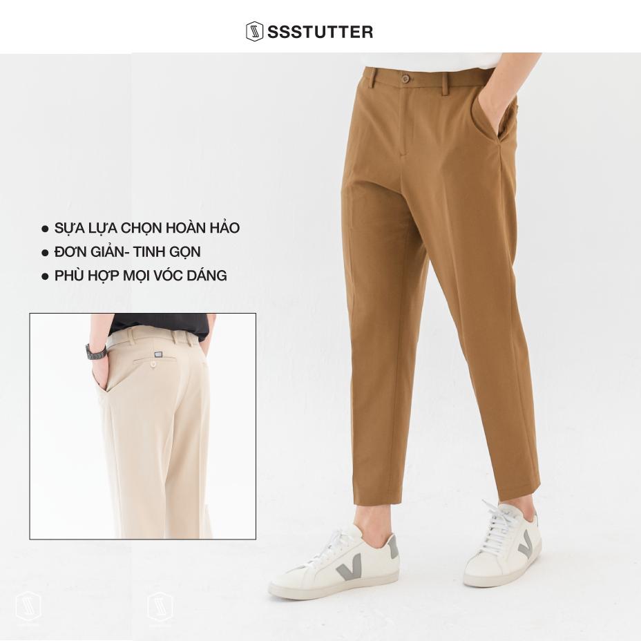 Quần Âu Nam form Regular SSStutter vải dệt thoi co giãn thoải mái 4 màu Fit Pants