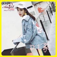 Áo khoác jean nữ thời trang ANGEL UNISEX BTS 366