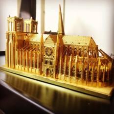 Mô Hình 3D Kim Loại Lắp Ráp Nhà Thờ Đức Bà Paris [Chưa Lắp]