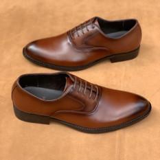 Giày Tây Nam Công Sở Cao Cấp Chất Da Bò Thật Màu Nâu Đẳng Cấp Sang Trọng UDANY – GBD16