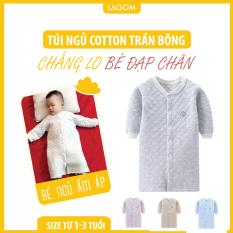 Túi Ngủ Trẻ Em Mùa Đông Cotton Trần Bông Siêu Ấm (Ảnh Thật)