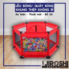 Nhà Banh Cho Bé 1.5m2 JIROSHI Tặng Kèm 10 Bóng có thể đặt trong nhà – Lều Bóng – Quây Bóng An Toàn Cho Bé