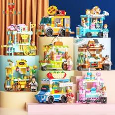 ( 1 XE LẺ ) Đồ chơi trẻ em lắp ráp 157 đến 189 chi tiết các loại xe bán đồ ăn nhựa ABS cao cấp cho bé từ 5 tuổi trở lên phát triển trí thông minh và khả năng tư duy logic