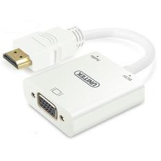 Cáp Chuyển Đổi HDMI Sang VGA Có Hỗ Trợ Nguồn Và Âm Thanh Unitek- Y6333WH