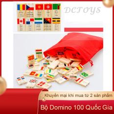 [SIÊU SALE] Sản phẩm đồ chơi cho bé 100 quân Domino với 99 lá cờ là của 99 quốc gia và 1 lá cờ Liên Hợp Quốc