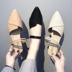 sandal nữ, sandal mũi nhọn 2 quai đi được 3 kiểu dễ phối đồ mẫu hót 2020