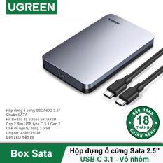 Hộp đựng ổ cứng 2.5 inch SSD HDD chuẩn SATA hỗ trợ ổ cứng lên đến 6TB 2 loại vỏ nhôm và nhựa cao cấp kích thước 128x82x14mm UGREEN US221 CM300 – Hãng phân phối chính thức