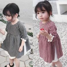 Đầm caro cho bé gái từ 1 đến 5 tuổi