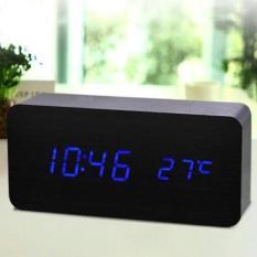 Đồng Hồ Để bàn bằng gỗ – LED (7 mẫu – Có Video thật) Kiêm Báo Thức & Nhiệt Kế DH003