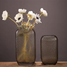 Bình hoa, lọ hoa, bình bông pha lê cao cấp (25x13cm), decor trang trí để bàn, trang trí nội thất, trang trí phòng khách, phòng làm việc, trưng bày DH- BH0017
