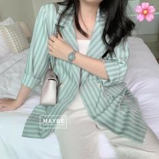 áo blazer nữ kẻ sọc kiểu hàn quốc xinh xắn