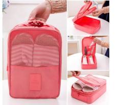 (Size Lớn) túi đựng giày dép 3 ngăn, túi đựng đồ du lịch thể thao đa năng TDG014