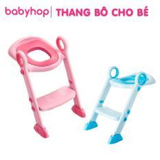 Thang bô cho bé đi vệ sinh tự lập, trẻ học ngồi Toilet. Chất liệu thang bền, có thể gấp gọn. Đệm mông xốp mềm mại