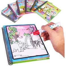 Sách tô màu bút nước thần kỳ Toys House size nhỏ dành cho bé từ 3 tuổi đến 5 tuổi, đồ chơi giáo dục sớm Montessori