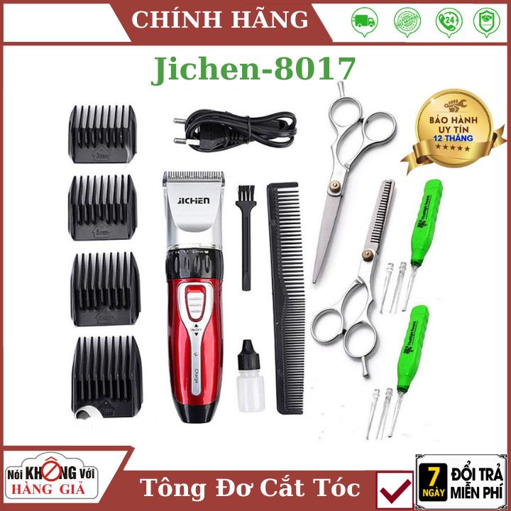 (Bảo Hành 12 tháng)tông đơ cắt tóc gia đình JC0817 Tăng đơ jichen + tặng bộ kéo cắt tỉa + 2 dụng cụ lấy ráy tai có đèn