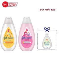 Bộ sản phẩm dầu gội óng mượt & sữa tắm chứa sữa và yến mạch Johnson's 200ml – 540017766