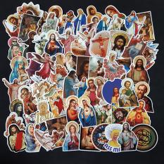 Bộ Sticker dán cao cấp chủ đề CHÚA JESU – Dùng dán Xe, dán mũ bảo hiểm, dán Laptop…