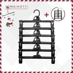 [HOT] Mua 1 tặng 1 Bộ 6 móc treo quần người lớn Mainetti – MB12 – Đen