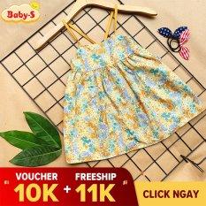 Váy hoa nhí cho bé, Váy 2 dây cho bé gái 4-18kg chất thô mềm mịn nhẹ mát siêu hot hit hè này cho bé đáng yêu mỗi ngày Baby-S – SD083