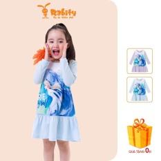 Đầm thun Elsa dài tay bé gái Rabity 5233