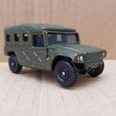 Xe mô hình Tomica – Xe Jeep chở lính màu xanh rêu mở được mui