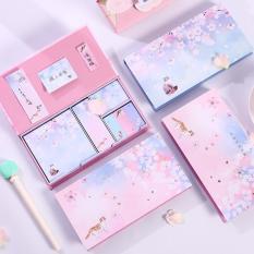 [HÀNG MỚI VỀ] Hộp 6 tập giấy note màu hình hoa